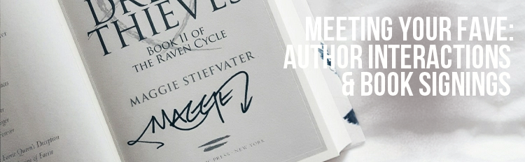 Meeting Your Fave: Author Interactions and Book Signings