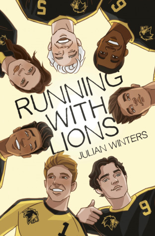 book cover of running with lions by julian winters