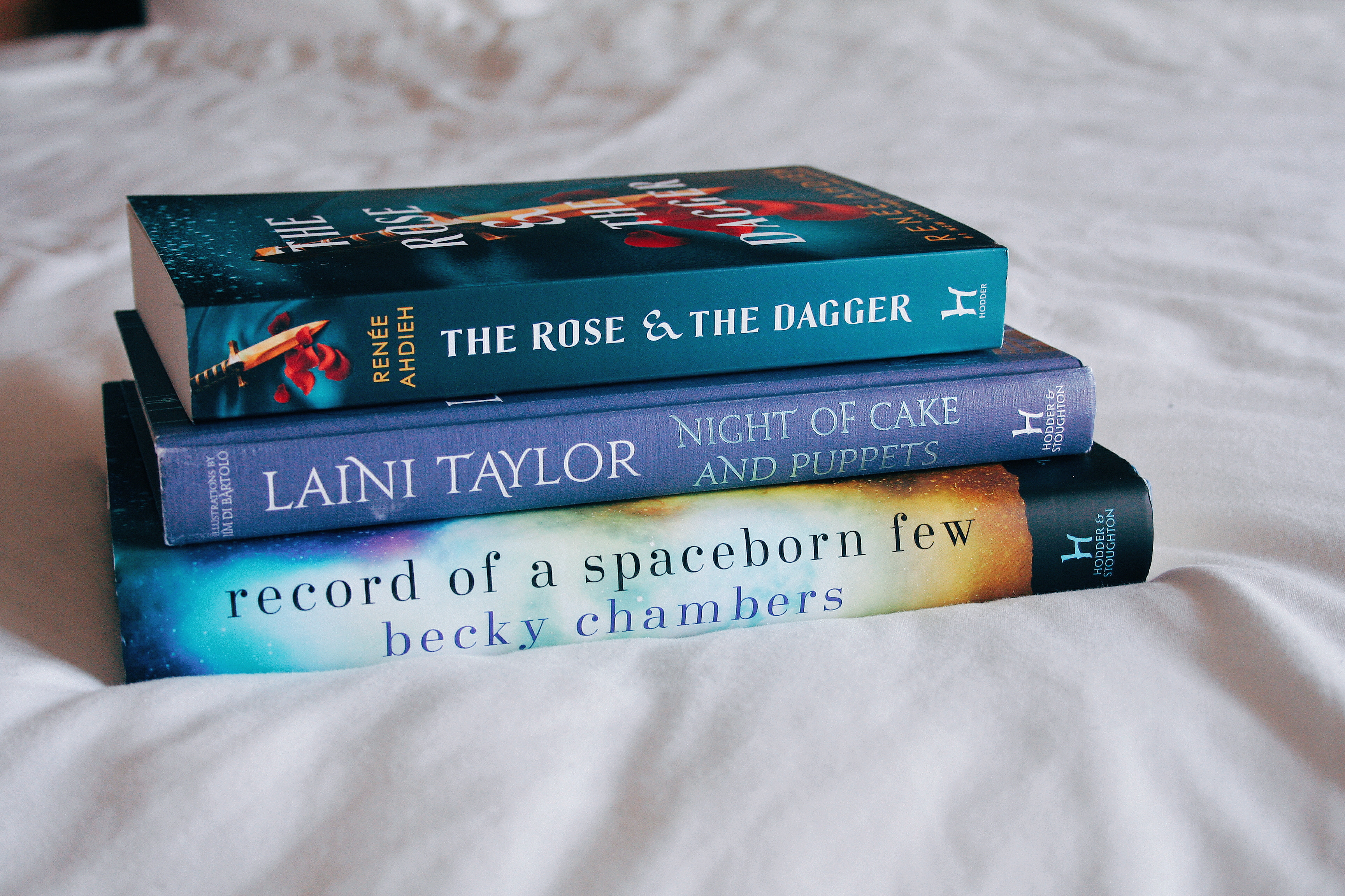 the rose and the dagger, night of cake and puppets, record of a spaceborn few