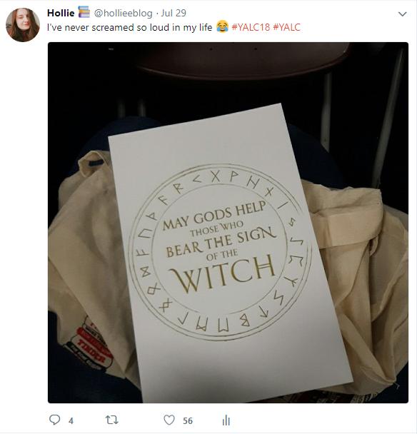 a tweet of a book