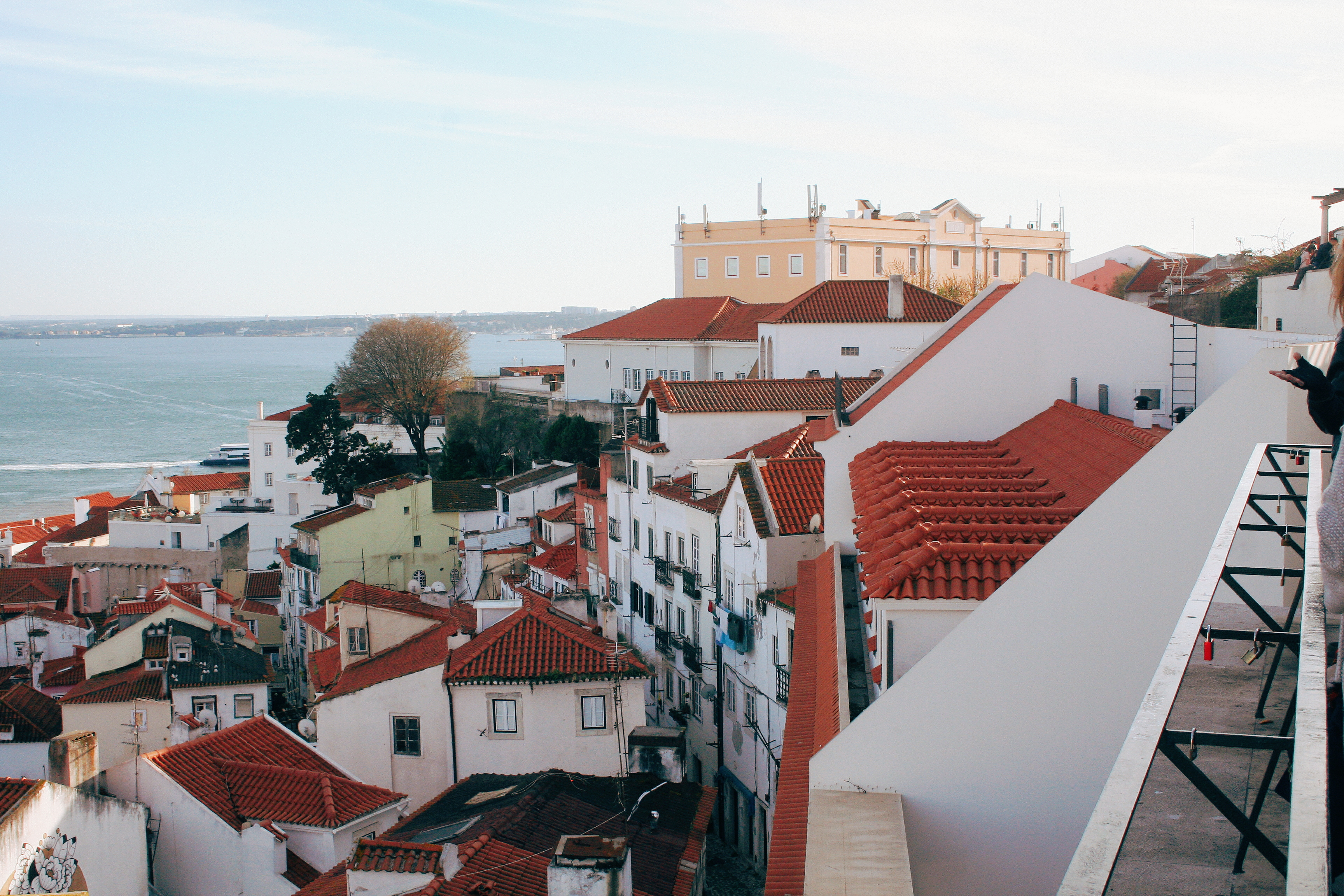 view of Lisbon from a viewpoint in Aflama